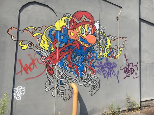 Murals by Saif Kattan seen at Baltic Market, Liverpool - Super Mario