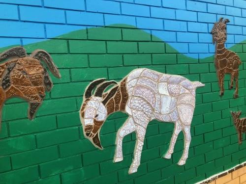 Murals by Diamando Koutsellis seen at Llandilo, Llandilo - Animal Life