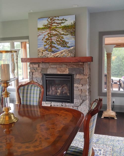 """Paintings by Darlene J. Winfield seen at Private Residence, Muskoka - """"Free and Strong II"""""""