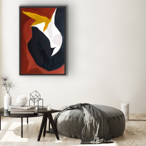 Paintings by Keren Toledano Abstract Art seen at The Dime Residences, Brooklyn - VULPECULA