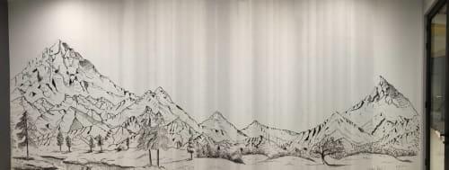 Murals by Laura Ho seen at OtterBox Hong Kong Limited - Mural (Mountains)