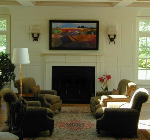 Paintings by Heidi Coutu at Private Residence, Acton - Abstract Painting