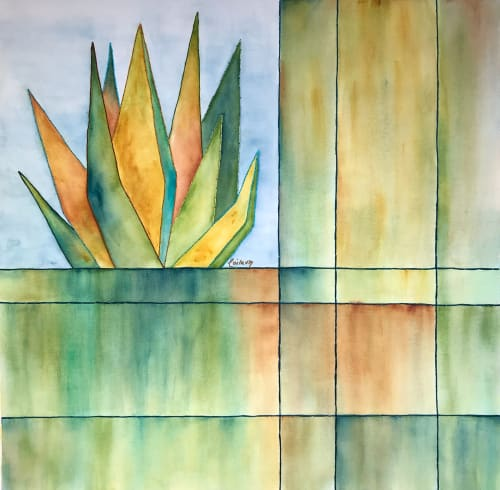 Paintings by Laila Vazquez seen at Creator's Studio, Mexico City - Sun Shower