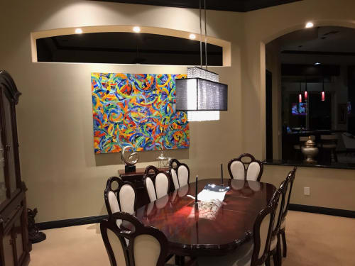 Paintings by Reade C Gloeckner Fine Art seen at Private Residence, Las Vegas - The Circle of Love that Binds Us Together