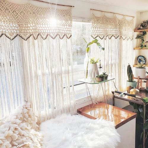 Macrame Wall Hanging by ORE + WOOL by Tarah Boyd seen at Private Residence, Portland - Macrame Curtain