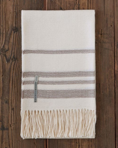 Linens & Bedding by Alicia Adams Alpaca seen at The Alpina Gstaad, Gstaad - Sail Throw