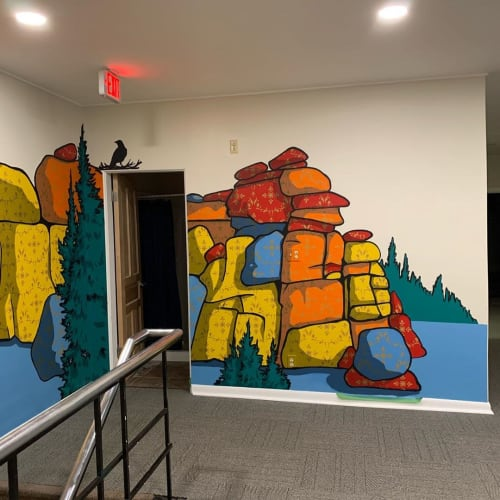 Murals by Dan toro seen at cotangent, Laramie - Indoor Mural