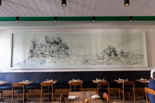 Paintings by Afton Love seen at Mister Jiu's, San Francisco - Landscape Art Created with Graphite