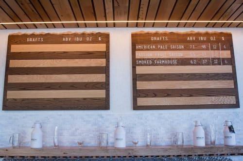 Signage by Kugo Laser LLC at Väsen Brewing Company, Richmond - Laser Engraved Menu Boards