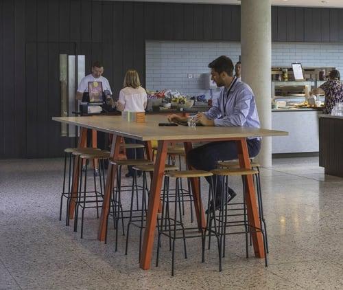 Tables by Jennifer Newman seen at British Sugar, Hampton - Tall Trestle Table