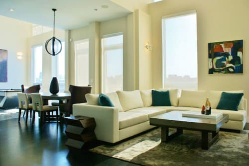"""Paintings by Jay Zerbe seen at Private Residence, Chicago - """"boulder"""""""