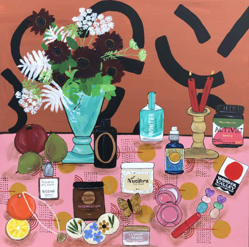 Paintings by THIS IS CARLY BECK seen at New York, New York - Beauty Junkie | Echo Park Craft Fair Edition
