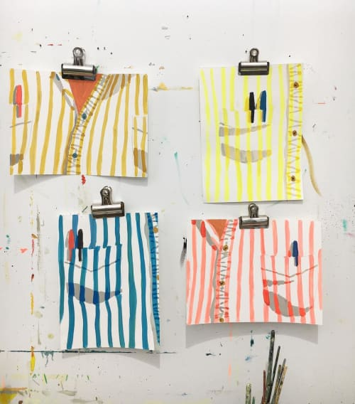 Quad Paintings | Paintings by Sophie Treppendahl