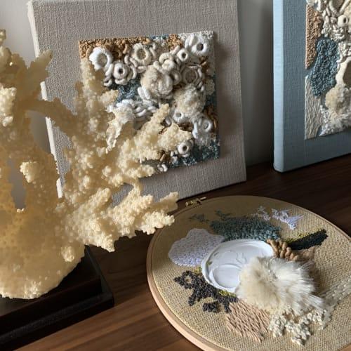 Art & Wall Decor by Helen D Wilde - Ovo Bloom seen at Creator's Studio - Abstract Ocean Fiber Art