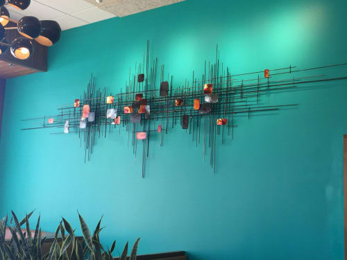 Public Sculptures by Corey Ellis Art seen at 197 N Harvard St, Boston - Our Fathers Wall Sculpture