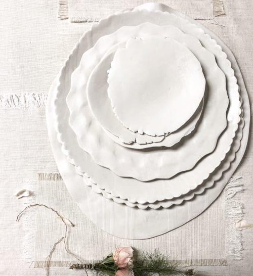 Ceramic Plates by Heather Waugh Pitts (handbuiltpittsceramics)IG seen at Private Residence, Dartmouth - Ceramic Studio