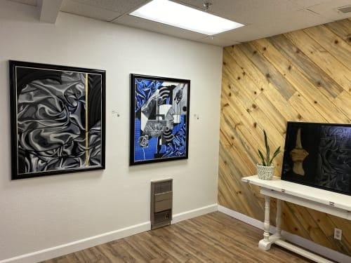 Paintings by Trent Thompson seen at Creator's Studio, Livermore - Woven & Sketching Big