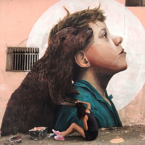 Street Murals by Mabel Vicentef seen at La Rioja - @mabelvicentef