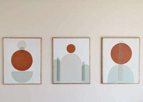 Paintings by Ayse Sirin Budak seen at Private Residence, East Hampton - Bold No. 2