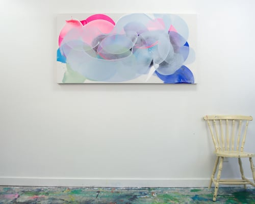 Paintings by Claire Desjardins seen at Creator's Studio, Gore - Silver Lining