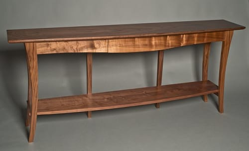 Tables by David Kellum Furniture seen at Private Residence - Port Townsend, WA, Port Townsend - Walnut console table