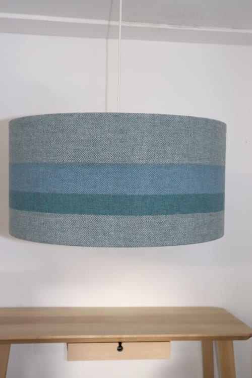 Lighting by GD Woven Textiles seen at Private Residence - Bespoke Handwoven Lampshade