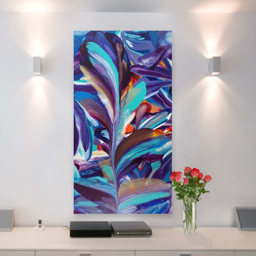 Murals by Terry Kruse seen at Private Residence, Calgary, Calgary - Cynefin