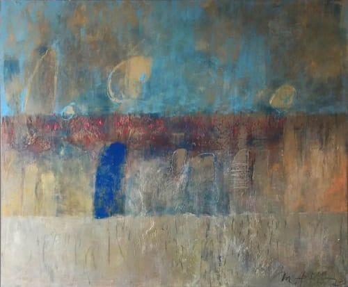 Paintings by Margaret Kisza seen at Private Residence, Toronto - Blue Study Series