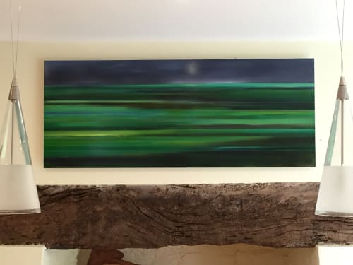 Paintings by Caroline Hall seen at Private Residence - Devon Fields.