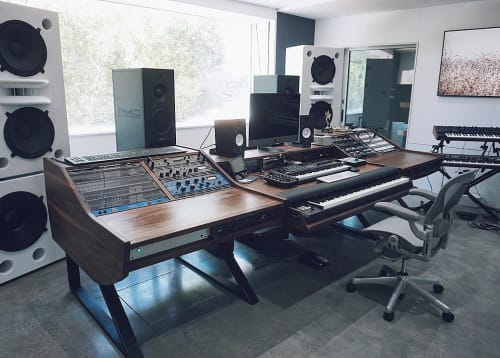Furniture by Monkwood seen at Private Residence, Los Angeles - Custom Studio Desk Design