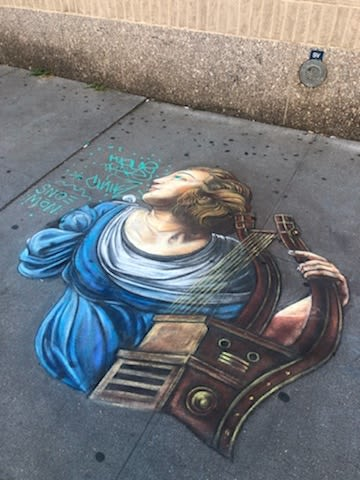 Work by Hani Shihada seen at 7th Avenue & West 18th Street, New York - Sidewalk Street Art