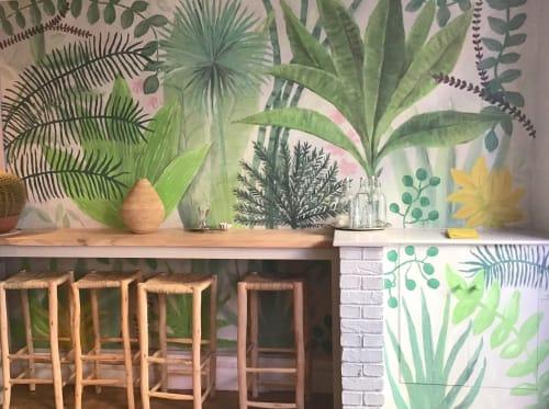 Murals by Jane Cabrera seen at Rafikis, Ashburton - Tropical Mural