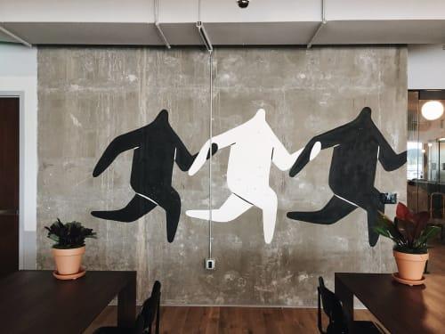 Murals by Jocelyn Tsaih seen at WeWork Lincoln Square, Bellevue - WeWork Mural