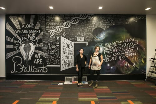 Murals by Amanda Paulson seen at The William Eckhardt Research Center at the The University of Chicago, Chicago - Science Mural