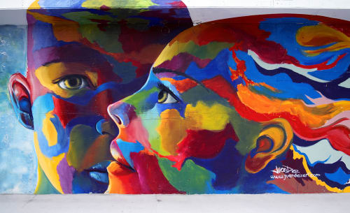 Street Murals by Juan Diaz seen at 5th Avenue South, Naples - Kaleidoscopic Souls