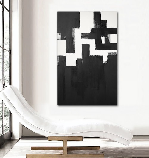 Paintings by Linnea Heide contemporary fine art seen at Private Residence, Dallas - 'GLASGOW' original abstract painting by Linnea Heide