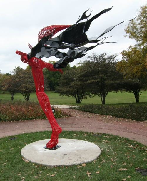 Sculptures by Jack Howard-Potter seen at Flossmoor, Flossmoor - Marmeg