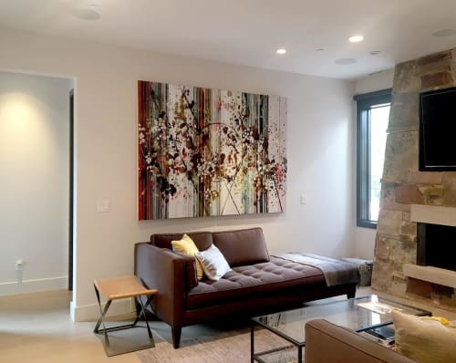 Paintings by Nina Tichava seen at Private Residence, Santa Fe - Ever Since Happiness Heard Your Name
