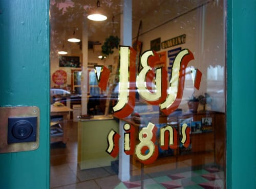 Signage by J&S Signs seen at J&S Signs, Portland - J&S Signs