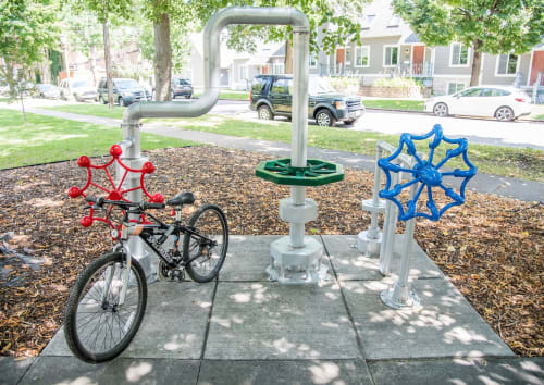 Public Sculptures by MUELLER STUDIO seen at Saint Paul, Saint Paul - McQuillan PArk Bike Rack
