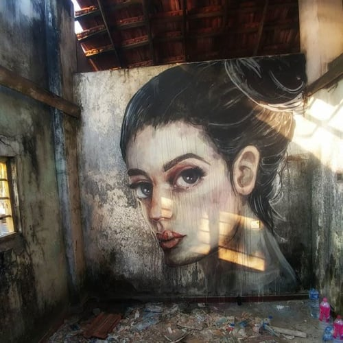Street Murals by Stefania Gallina - MAPU Lab seen at Goviyapana - In between - Personal Wall