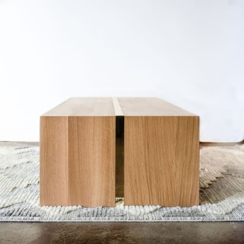 Tables by Timber & Tulip seen at Anahata Collaborative LLC, Minneapolis - Bradshaw Coffee Table (in Rift White Oak)