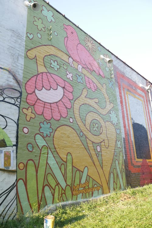 Street Murals by Kyle Knapp seen at 934 Gallery, Columbus - Bend but don't Break