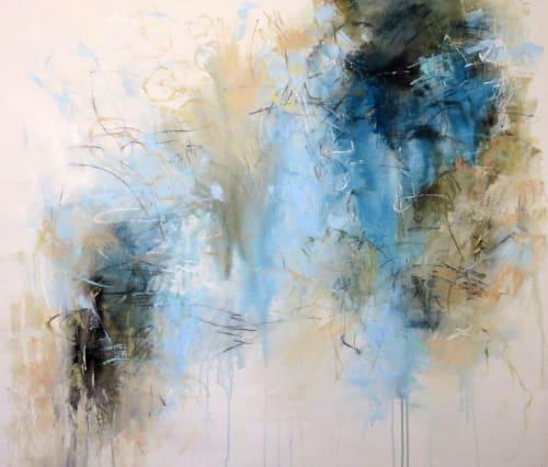Paintings by Debora Stewart seen at Huff Harrington Home, Atlanta - Garden Traces