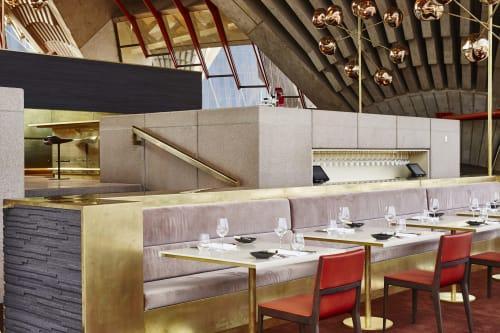 Interior Design by Tonkin Zulaikha Greer seen at Bennelong Restaurant and Bar, Sydney - Bennelong Restaurant - Sydney Opera House