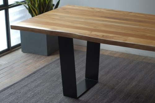 Teak Kali Live Edge + Orion Dining Table   Tables by From the Source