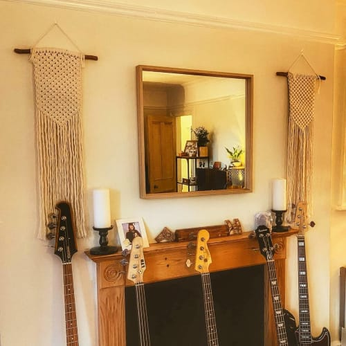 Macrame Wall Hanging by HoeBow Designs (Chloe Eleanor) seen at Private Residence, Oxted - Handmade Simple Macrame Wall Hanging (Pair)