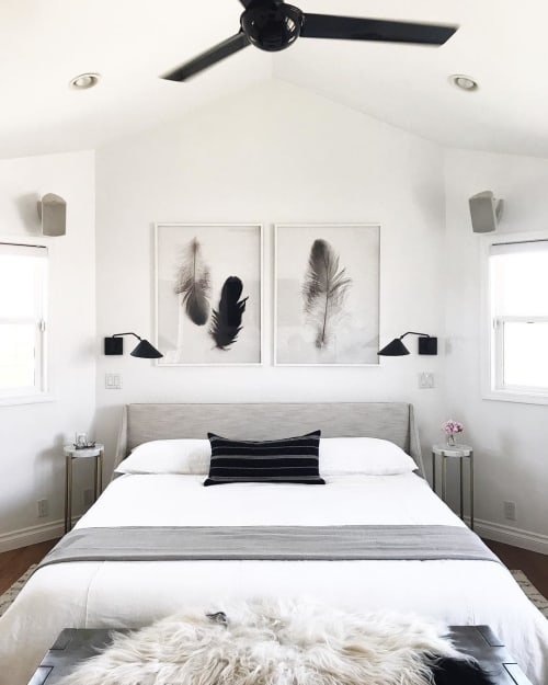 Linens & Bedding by Rough Linen seen at Private Residence, San Diego - White Bed Cover