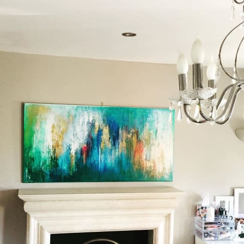 Paintings by Julija Saler seen at Private Residence, Killarney - Abstract painting