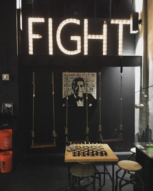 Paintings by Blind Fox Art seen at EverybodyFights NYC, New York - Inspirational Figures